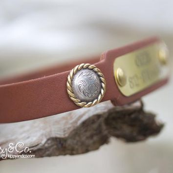 Personalized Concho Dog Collar