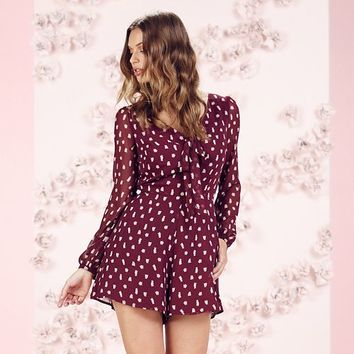 LC Lauren Conrad Runway Collection Owl Print Romper - Women's