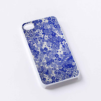 damask flower blue iPhone 4/4S, 5/5S, 5C,6,6plus,and Samsung s3,s4,s5,s6