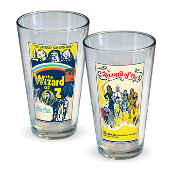 Wizard of Oz - The Wizard Of Oz Movie Poster 2-Pack Pint Glass Set