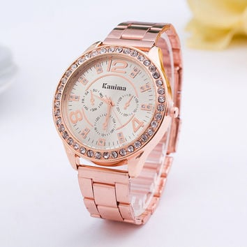 Rhinestones Womens Watch