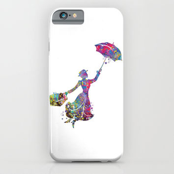 Mary Poppins iPhone & iPod Case by Bitter Moon