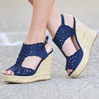 Ocean Bliss Navy Wedge