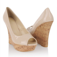 Glossy Leatherette Wedges   FOREVER21 - 2058635063