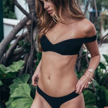 GOSSAMER COLD SHOULDER BIKINI