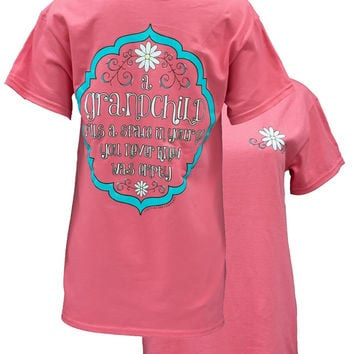 Southern Couture Grandchild Fills a Space in Your Heart Grandma Granny Nana Mimi Girlie Bright T Shirt