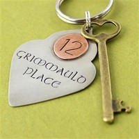 12 Grimmauld Place Key Chain - Spiffing Jewelry