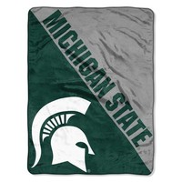"Michigan State Spartans NCAA Halftone 46""x 60"" Micro Raschel Throw"