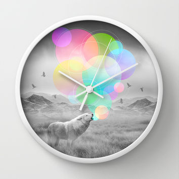 The Echoes of Silence Wall Clock by Soaring Anchor Designs | Society6