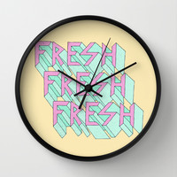 Fresh Wall Clock by Shoooes