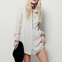 Free People Womens This Town Printed Top