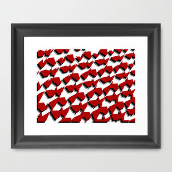 Red Framed Art Print by Kayleigh Rappaport