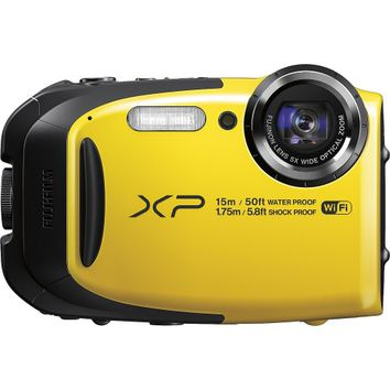 Fujifilm - XP80 16.4-Megapixel Waterproof Digital Camera - Yellow