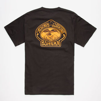 Bohnam Sovereign Mens T-Shirt Black  In Sizes