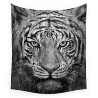 Society6 Tiger Black & White Wall Tapestry