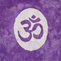 CUSTOM Organic Ohm Om Aum Batik Wall Hanging by AppleJaxie on Etsy