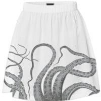 Octopus tentacles vintage kraken sea monster graphic emo goth summer skirt created by iGalaxy | Print All Over Me