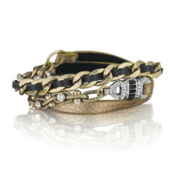 Chloe + Isabel Deco Leather Wrap Bracelet
