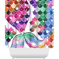 Mermaid tail colorful Shower Curtain