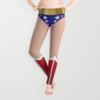 Superhero Leggings Leggings by Teo Hoble