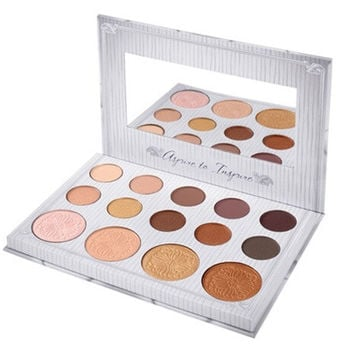BH Cosmetics Makeup Eye Shadow Palette 14 Colors for Matte Glitter Eyeshadow Make Up Set Waterproof Easy To Wear [8833987788]