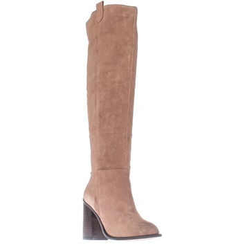 Kelsi Dagger Brooklyn Harmans Knee-High Fashion Boots, Latte, 7.5 US