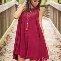 Romantically Involved Dress, Burgundy