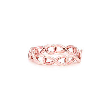 Tiffany & Co. - Tiffany Infinity narrow band ring in RUBEDO® metal.