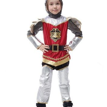 Free shipping!!Halloween carnival party ball game performance clothing, royal knight Roman armor warrior