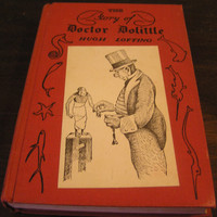The Story Of Doctor Dolittle  Hugh Lofting Lippincott  10th Printing Introduction by Dr. Hugh Walpole