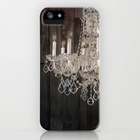rustic nature barn wood western country shabby chic chandelier art iPhone & iPod Case by chicelegantboutique | Society6