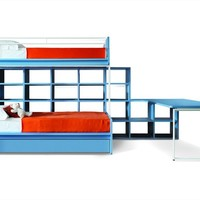 Convertible bunk bed CASTELLO DI ROBIN by Zalf