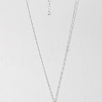 Two Tone Double Circle Pendant Necklace