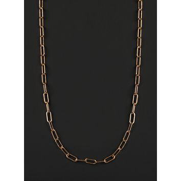 Men's Gold Chain Necklace (14k Gold Filled Long Cable Chain)
