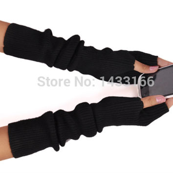 New Winter Long Section Of Cashmere Fingerless Gloves Hot Color Can Be Customized Authentic Free Shipping