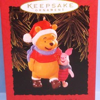 1996 Winnie the Pooh and Piglet Hallmark Retired Ornament