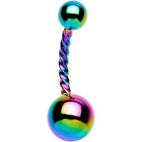 Rainbow IP Seriously Twisted Belly Ring