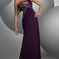 Unique Strapless Shimmer Prom Dress