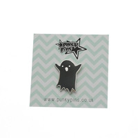 Black or White cute Ghost Enamel Pin with clutch back // lapel pins