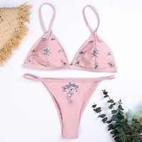 Hot Summer New Arrival Sexy Swimsuit Beach Swimwear Handcrafts Diamonds Crystal Bikini [1303950458996]