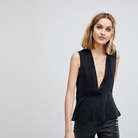 ASOS Drape Plunge Top at asos.com