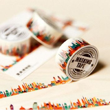 DIY Lovely Hope Tree Washi Tapes Cute Cat Flag Design Decorative Adhesive Masking Tape for Diary Scrapbook Deco Sticker