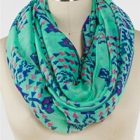 Bright Aztec Eternity Scarf