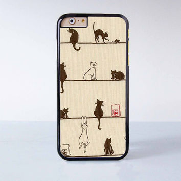 "Lots of Cute Cats plastic phone case for iPhone 6 (4.7"")  More case style can be selected"