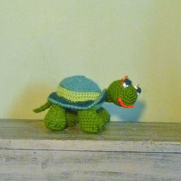Crochet Amigurumi Turtle Stuffed Animal/Toy