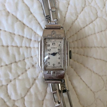 1930's Birks Watch / Art Deco / Ladies Antique Wrist Watch  / Bracelet / Vintage 30's