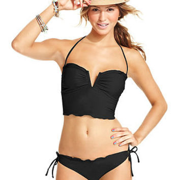 California Waves Swimsuit, Halter Tankini Top & Side-Tie Brief Bottom - Swimwear - Women - Macy's