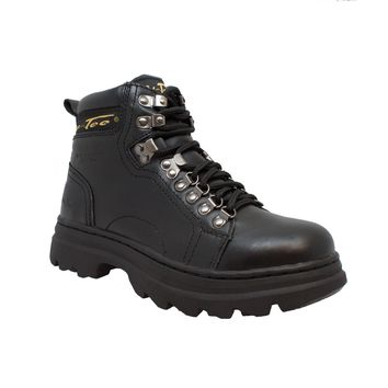 "Women's 6"" Steel Toe Work Boot Black - Footwear"