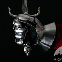 Medieval Men's Finger Gauntlets; Men's gloves for SCA