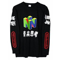 DCCKIJ2 N64 Japanese Long Sleeve T-Shirt